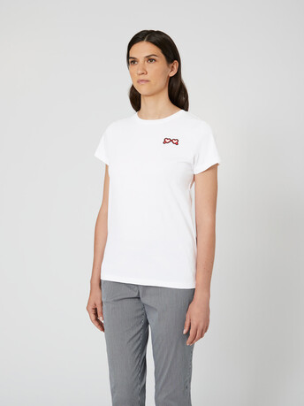 Cotton jersey top - White