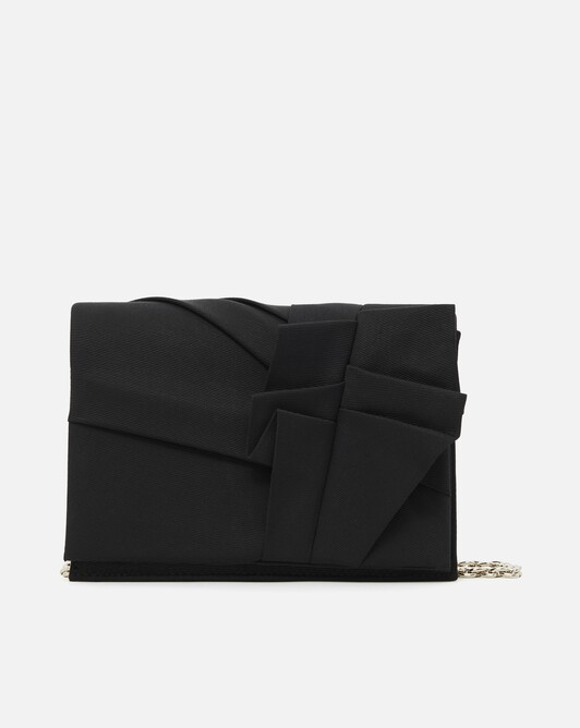 Stretch ottoman clutch - Noir