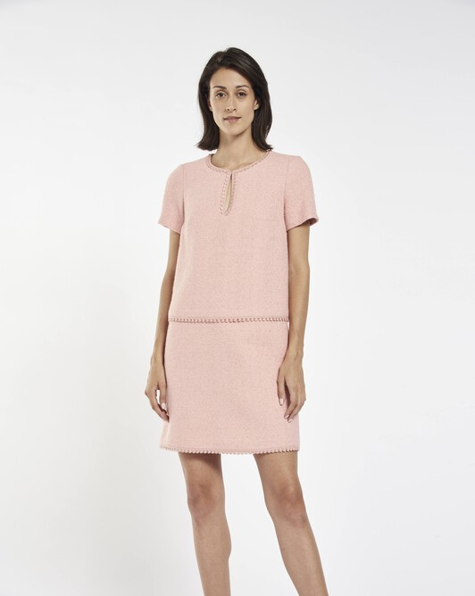 Herringbone dress - Rose pale