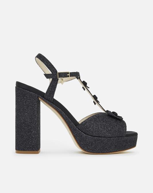 Sandales en paillettes - Noir