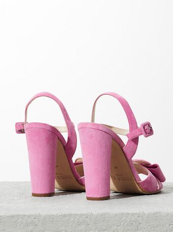 Sandales en cuir suède - Bubble gum
