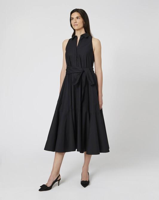 Robe en popeline de coton - Noir