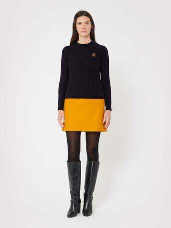 Wool and cashmere sweater - Noir