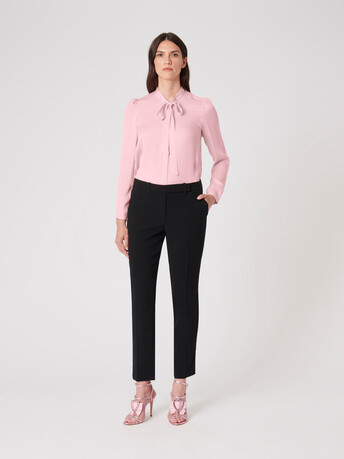 Stretch-charmeuse shirt - Candy pink