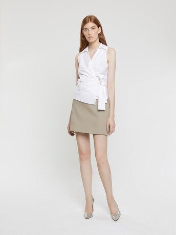 Cotton couture skirt - Taupe