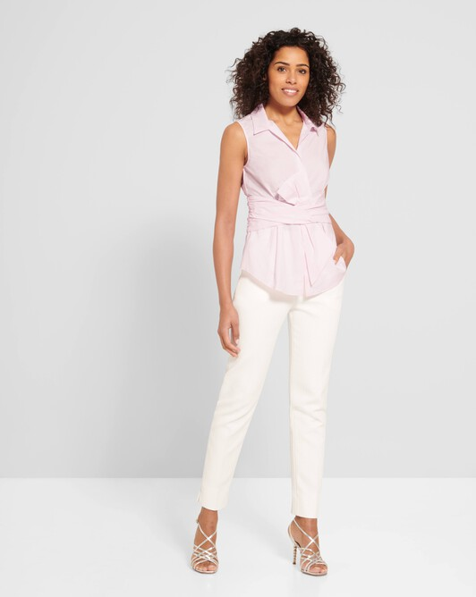 Cotton-poplin shirt - Magnolia