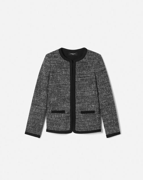 Veste en tweed chiné