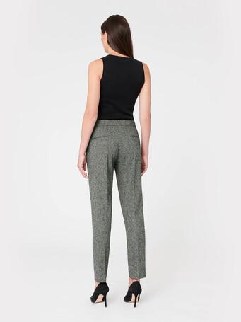Pantalon en tweed - Noir