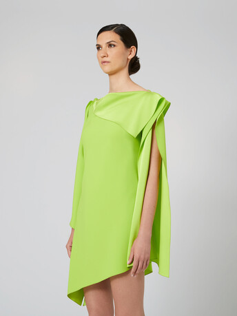 Satin-back crepe dress - Kiwi