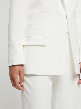 Satin-back crepe jacket - Off white