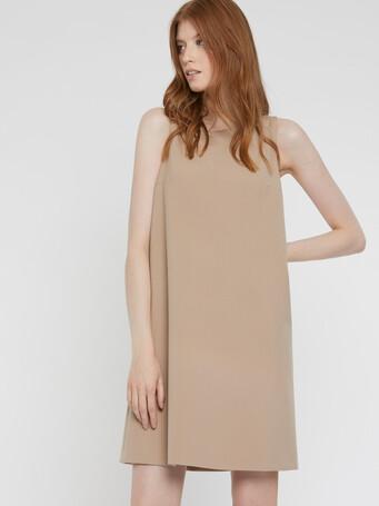 Tricotine A-line dress - Beige