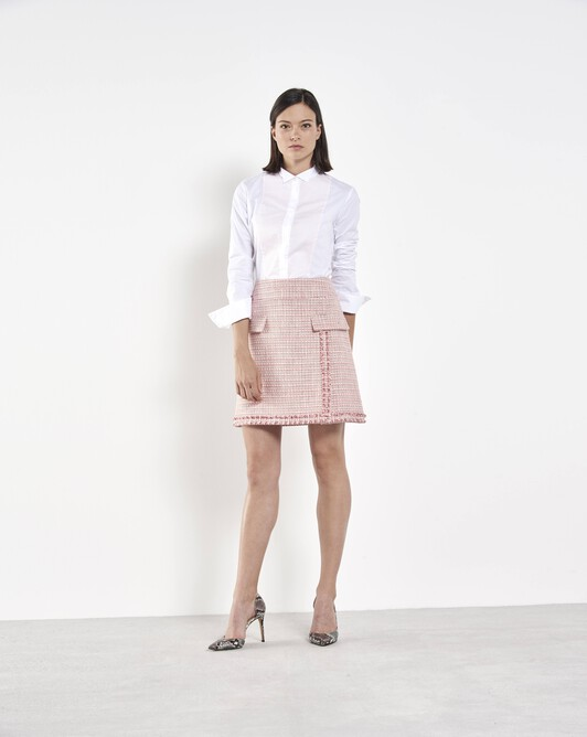 Woven tweed skirt - Pivoine