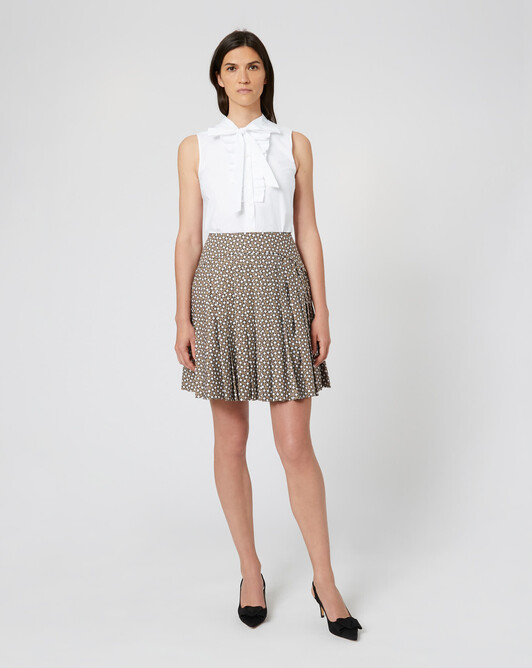 WOVEN SKIRT - Taupe
