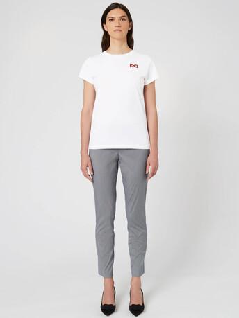 Gingham poplin pants - Noir / blanc