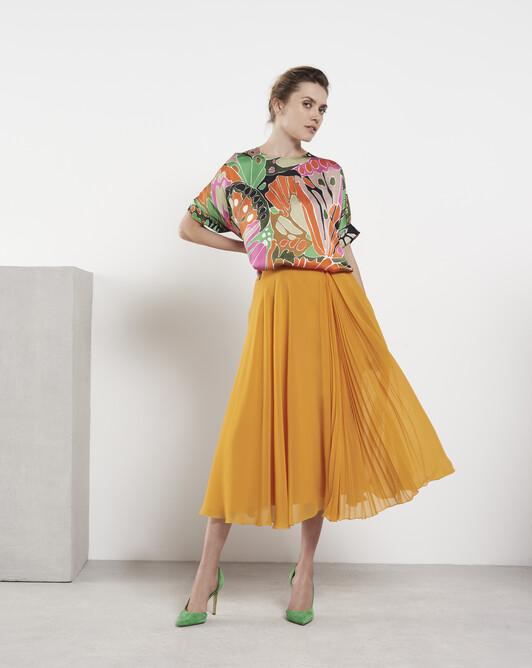Chiffon skirt - Safran