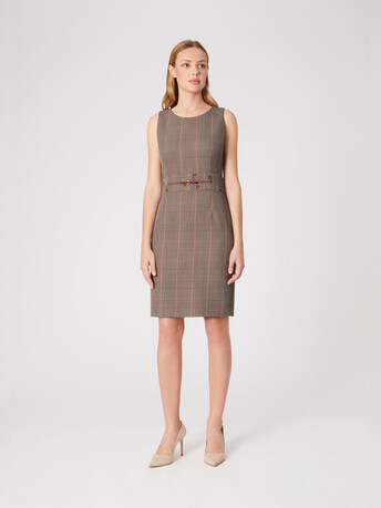 Prince of Wales checked jacquard dress - multicolor