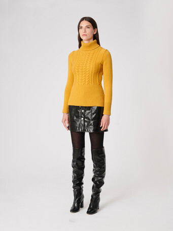 Wool and cashmere sweater - Ocre