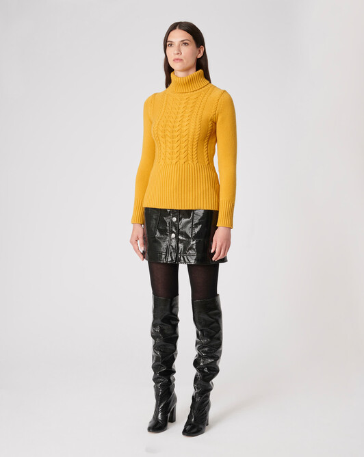KNITTED SWEATER - Ocre