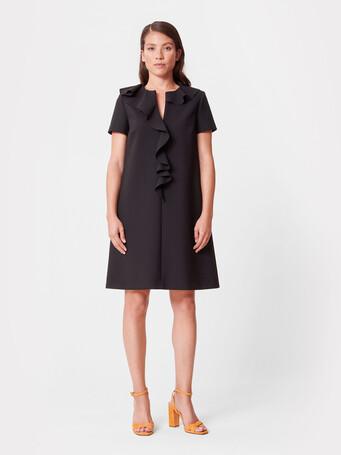 Stretch-tricotine dress - Noir