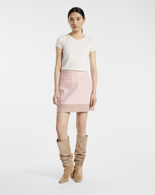 Wool skirt - Rose pale / beige