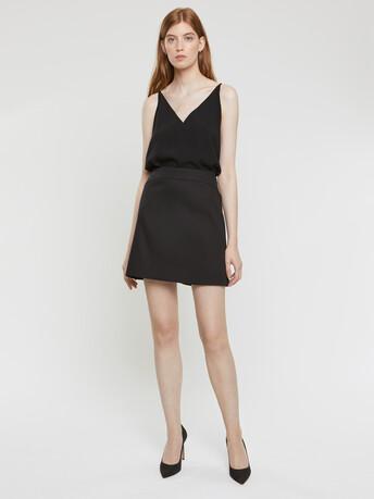 Jupe en coton couture - Noir