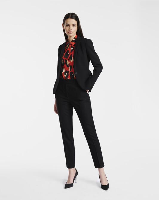 Woolcloth trousers - Noir