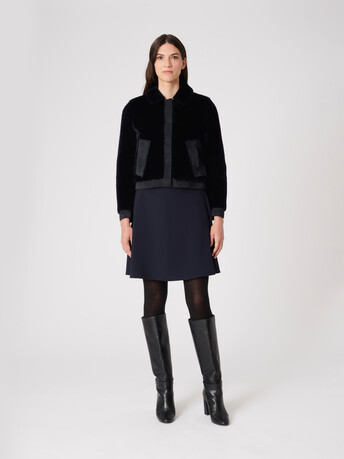 Shearling jacket - Navy blue