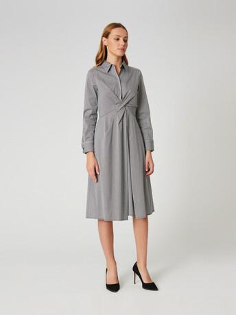 Robe en popeline vichy - Noir / blanc