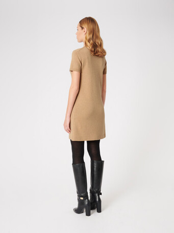 Wool and cashmere dress - Beige