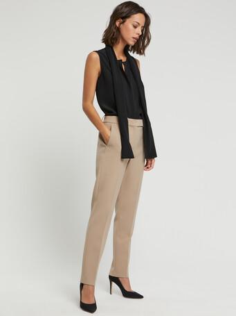 Pantalon en tricotine stretch - Beige