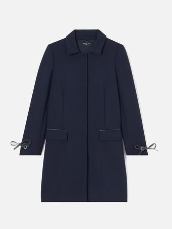 Manteau en tricotine stretch - Marine