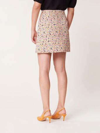 Short jacquard skirt - Multicolore