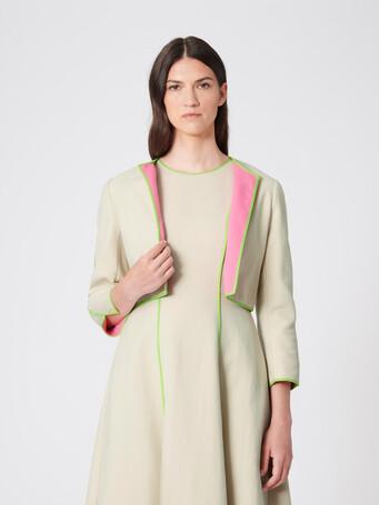 Two-tone cotton jacket - Sable/bubble