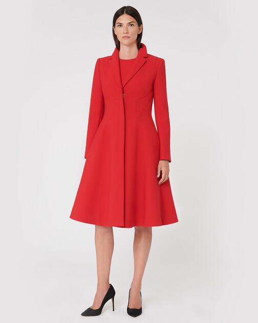 Stretch-tricotine coat