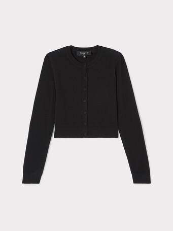 Cardigan en laine et cachemire - Noir