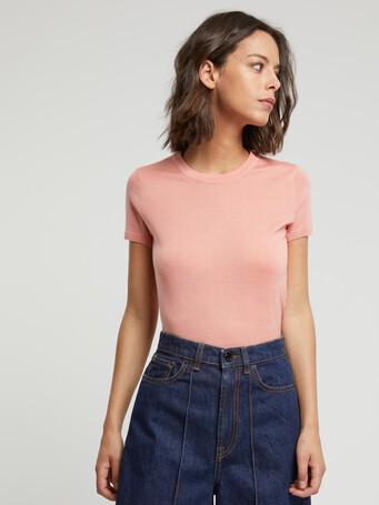 Merino wool sweater - Eau de rose