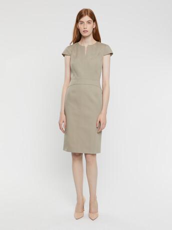 Robe en coton couture - Taupe