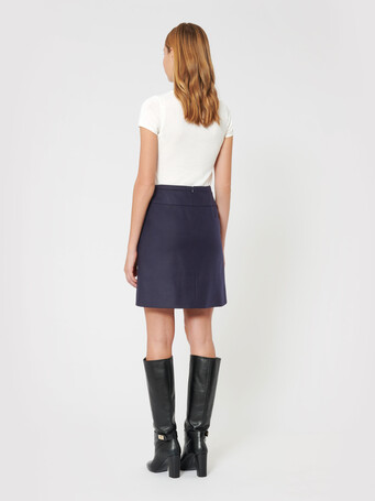 Wool skirt - Navy blue