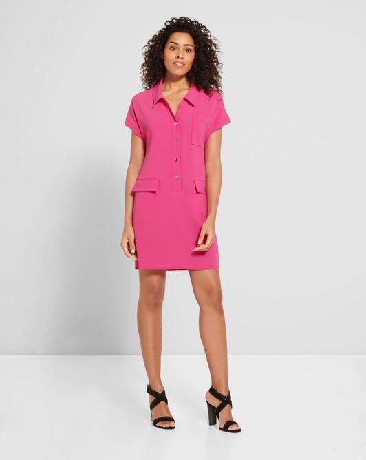 Satin-back crepe dress - Pink
