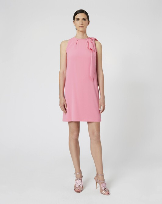 Robe en crêpe envers satin - Bubble gum