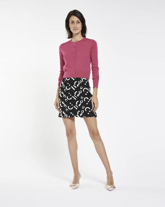 Guipure skirt - Black / white