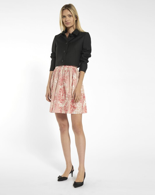 Panther print poplin skirt - Blush