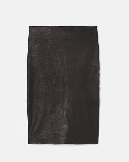 Leather skirt - Noir