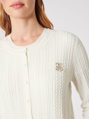 Wool and cashmere cardigan - Off white