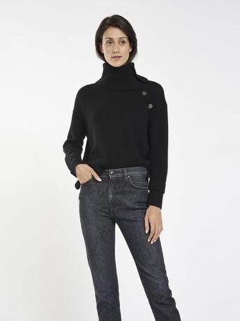 Pull en laine mélangée cachemire - Noir