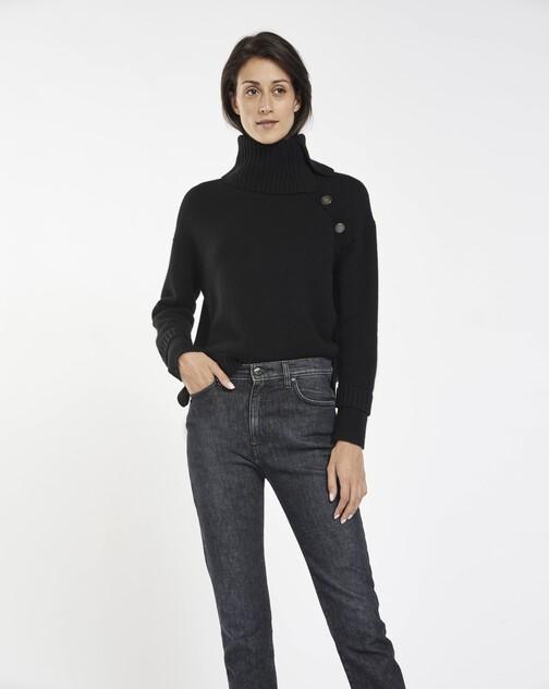 Pull en laine mélangée cachemire