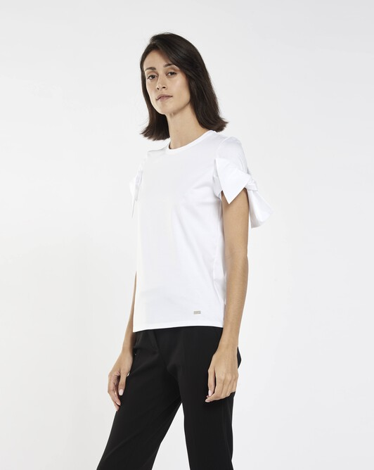 T-shirt in stretch-cotton jersey - White