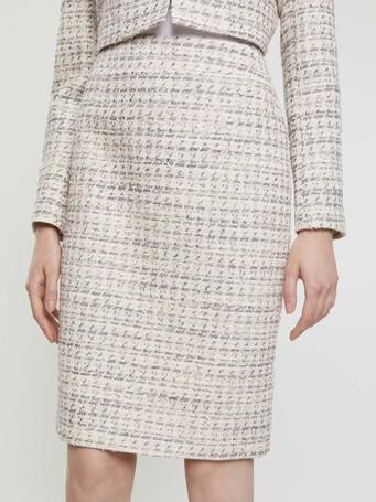 Mini-knot tweed pencil skirt - Rose pale