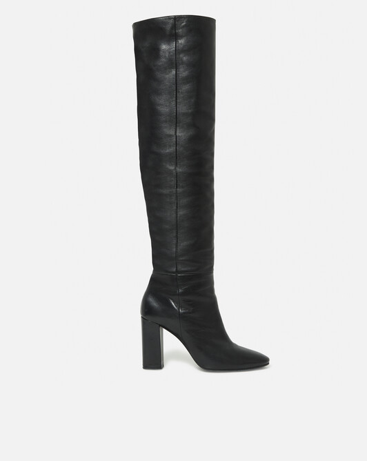 Nappa leather boots - black