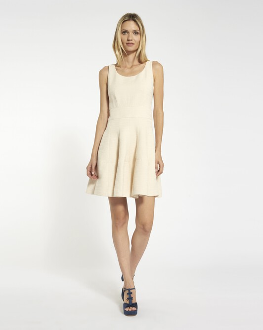 Dobby cotton dress - Ivory
